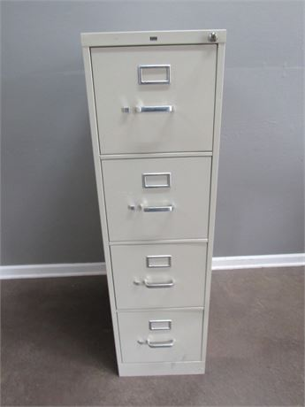 Hon Metal File Cabinet with Key