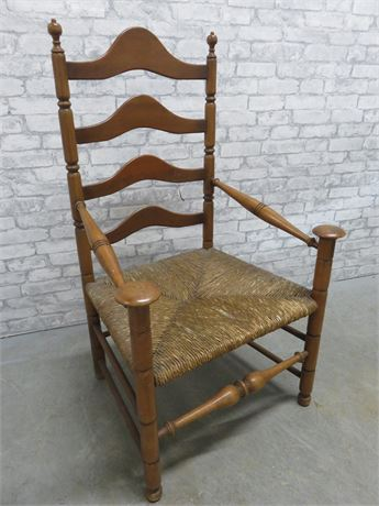 Large Rush Seat Chair
