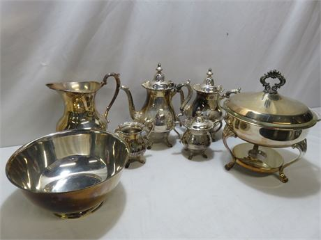 Vintage 7-Piece Silverplate Lot