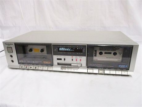 TECHNICS STEREO DOUBLE CASSETTE TAPE DECK MODEL RS-B11W