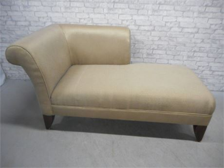 LARGE UPHOLSTERED CORNER CHAISE LOUNGE CHAIR