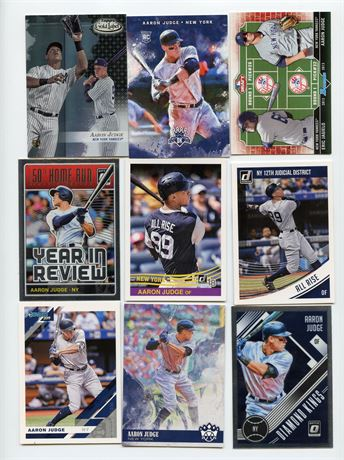 AARON JUDGE LOT WITH 2013 ROOKIES 9 CARDS