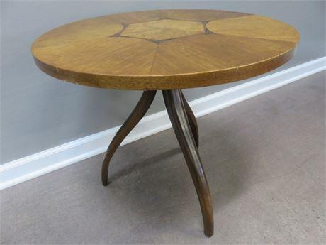 "Mid-Century DREXEL ""Composite"" Swag Tri-Leg Side Table"