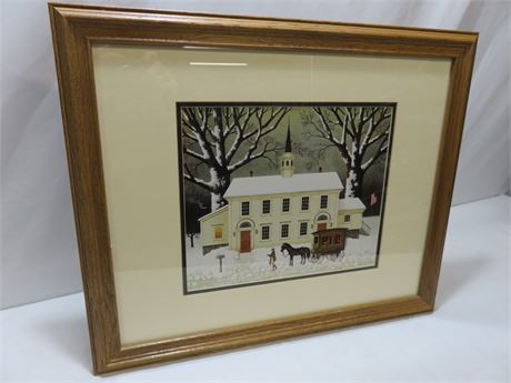 "CHARLES WYSOCKI ""A Pie For The Parson"" Framed Print (Signed)"