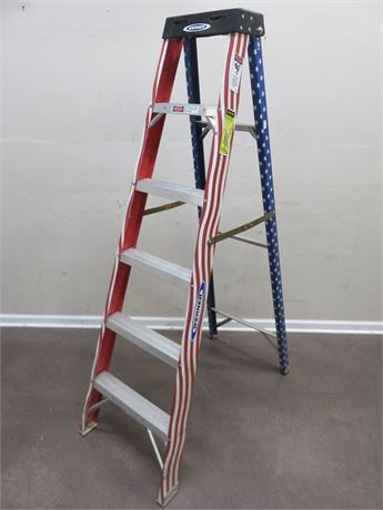 WERNER Patriotic 6-Ft Aluminum Step Ladder