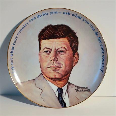 John F. Kennedy Commemorative Plate