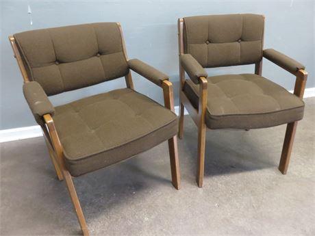 LA-Z-BOY Mid-Century Style Arm Chairs