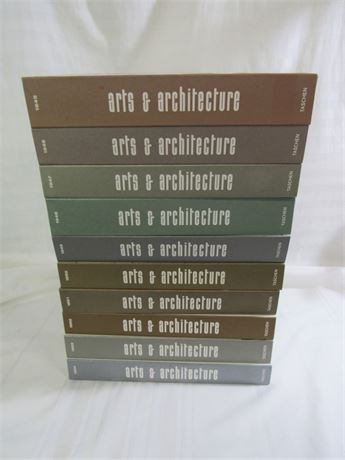 Limited Edition Reprint 10 Book Set - Art & Architecture 1945-1954 - Mid Century