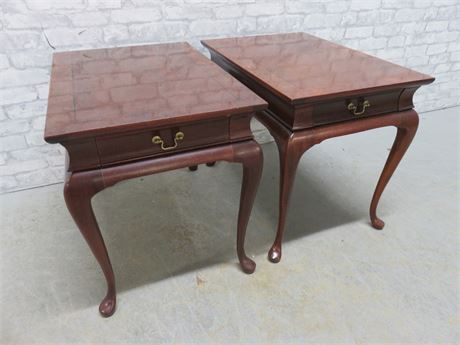 Vintage HICKORY CHAIR CO. Mahogany End Tables