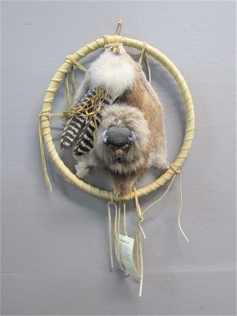 Vision - Native American Indian Dream Catcher - Buffalo - #596
