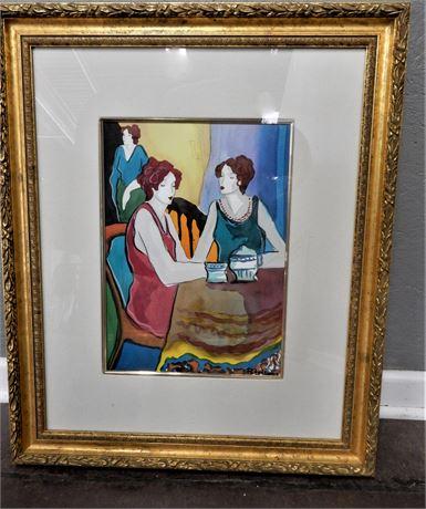 Signed Patricia Govensky Framed Serigraph