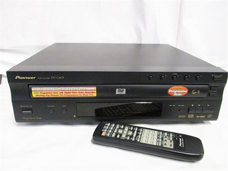 PIONEER DV-C603 5-DISC CD/DVD PLAYER WITH REMOTE