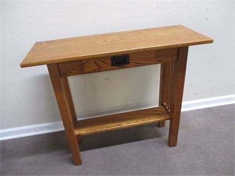 MISSION-STYLE CONSOLE TABLE