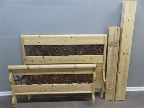 Rustic Knotty Pine Bed