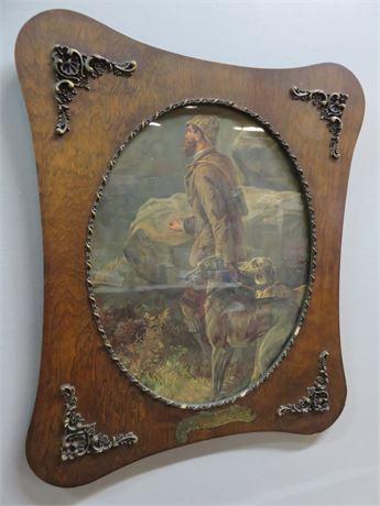 Vintage Wood Framed Print