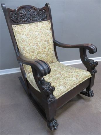 Antique Carved Rocking Chair