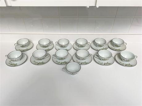 Noritake Tea Cup and Saucer China Set