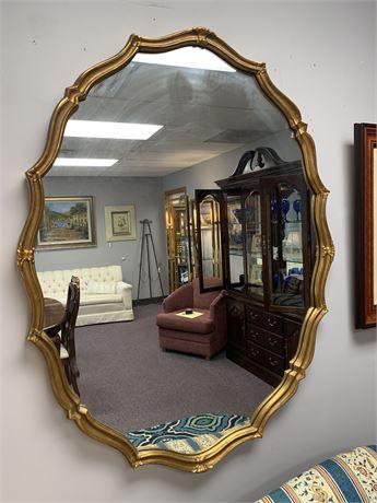 Vintage Carved Gold Oval  Mirror