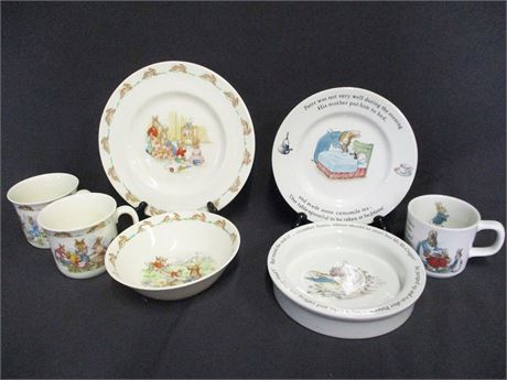 LOT OF CHILDREN'S PETER RABBIT CHINA - ROYAL DOULTON AND WEDGWOOD