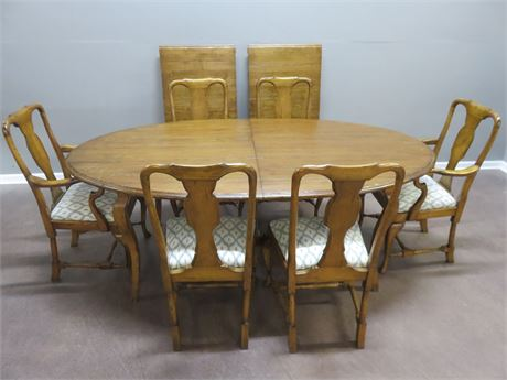 Rustic Pine Dining Table Set