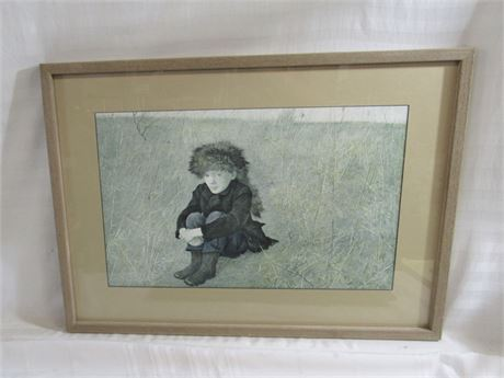 Andrew Wyeth Framed and Matted Print -  Faraway