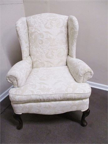 BROYHILL IVORY WINGBACK CHAIR