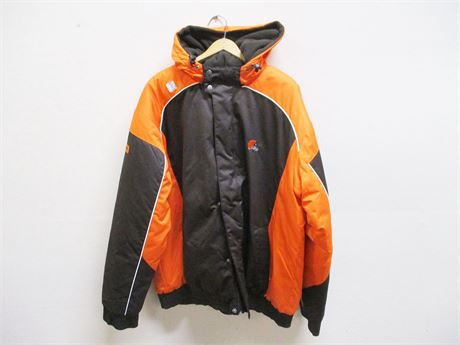XXL CLEVELAND BROWNS HOODED JACKET