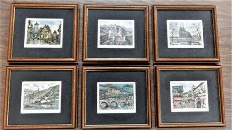 Marice Lundry Legendary German Prints Matted and Framed