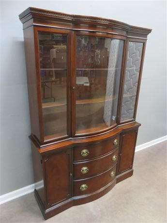 Vintage DREXEL New Travis Court Bow Front China Hutch