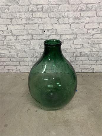 Large Green, Blown Glass, Vase