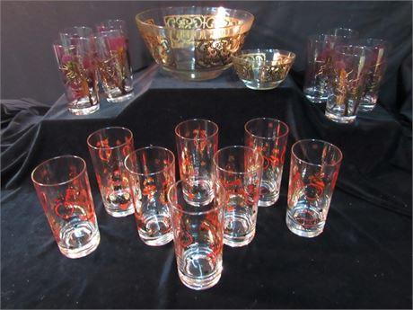 18 Piece Vintage Glassware Lot