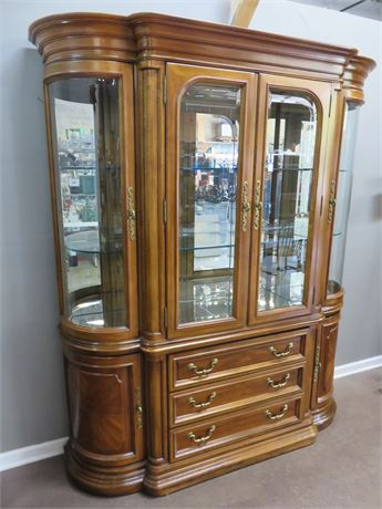 AMERICAN OF MARTINSVILLE Cherry China Hutch