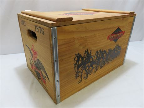 Vintage BUDWEISER Clydesdales Wooden Box Crate