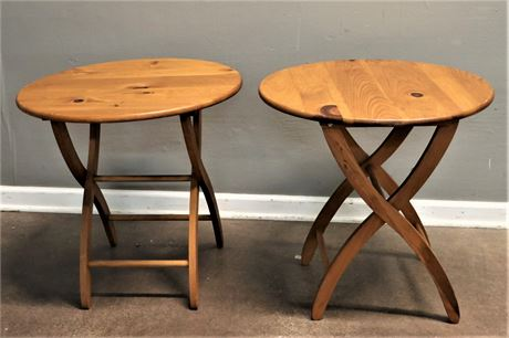 Round Wood Folding Tables