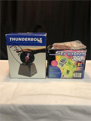 Thunderbolt Interactive Lightning Globe and Color Strobe Light