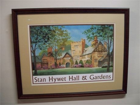 FRAMED AND TRIPLE MATTED STAN HYWET GARDENS BY DONALD COLBERT - 2000