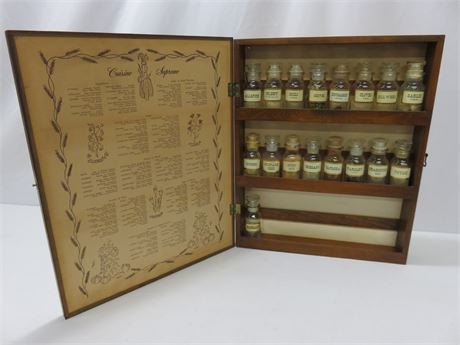 Old Fashioned Spice Rack Wall Cabinet