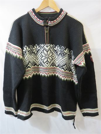 DALE OF NORWAY Men's 100% Wool Nordic Pullover Sweater - Size M