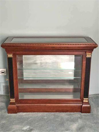 Vintage Jasper Beveled Glass Display Cabinet