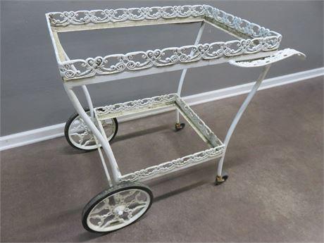 Metal Garden Tea Cart