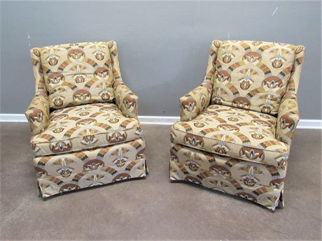 2 Comfy Henredon Upholstered Occasional Chairs