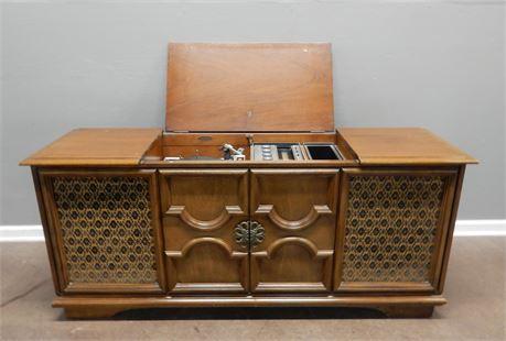 Vintage Mid Century Sears Silvertone Stereo Console