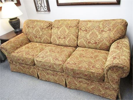 BEAUTIFUL PAISLEY FLEXSTEEL SOFA