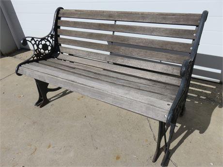 Cast Iron Glider Park Bench