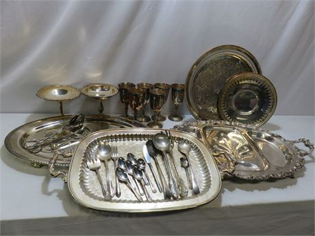 Vintage 31-Piece Silverplate Lot
