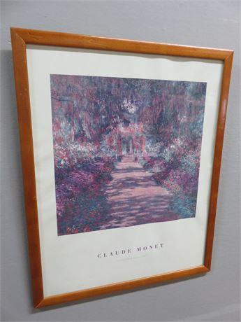 "CLAUDE MONET ""Garden Path in Giverny"" Print"