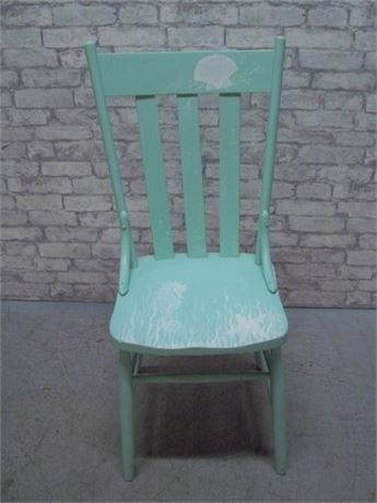 PAINTED AND STENCILED VINTAGE CHAIR