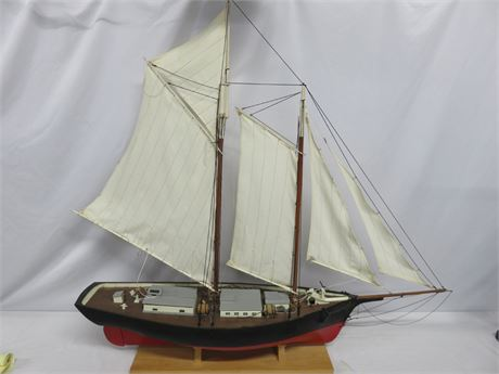 """44"""" Hand-Crafted Wooden Model Ship"""