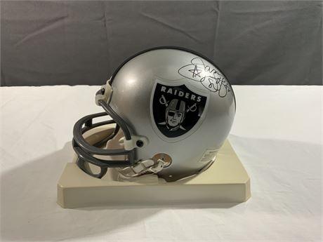 James Lofton Raiders AUTOGRAPH Riddell Mini Helmet HOF
