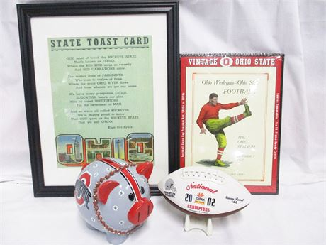 LOT OF OHIO STATE FOOTBALL MEMORABILIA